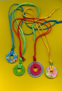 Pendants made from washers.