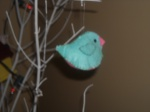 Felt Blue bird
