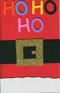 Santa's Belt Card