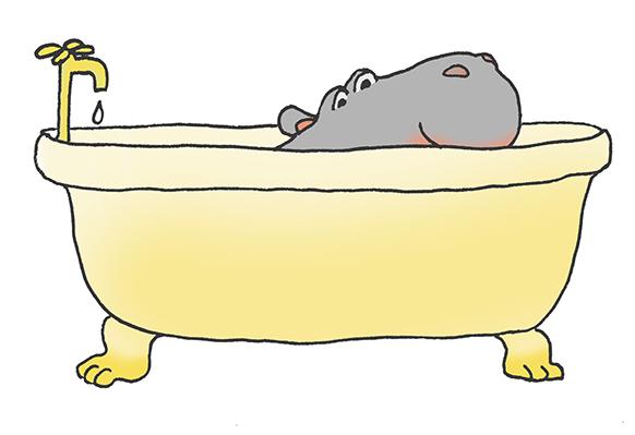 cartoon-hippo-happy-hippo-bathtub