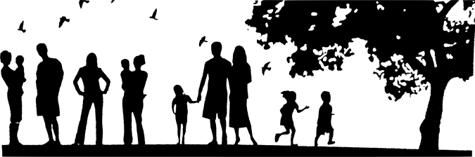 Family-Picnic-Silhouette