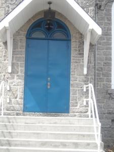 Church front door