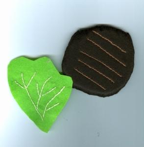 Burger with lettuce leaf