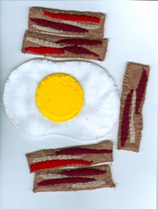 Sunny side up with bacon strips