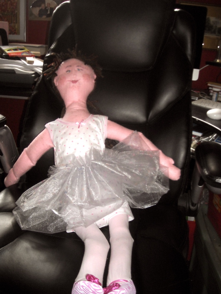 Dottie in her tutu and ballet shoes