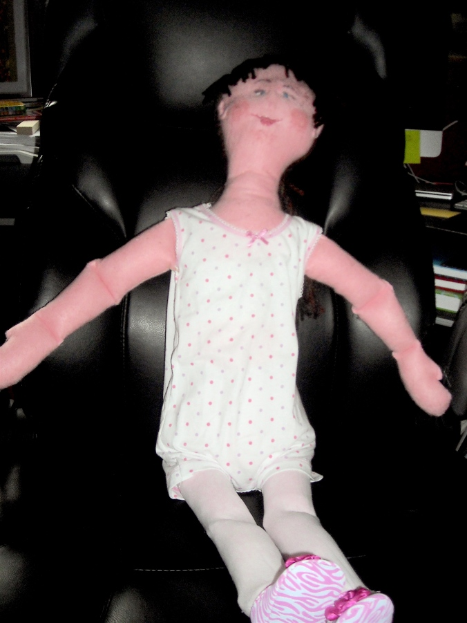 Rag doll in a chair