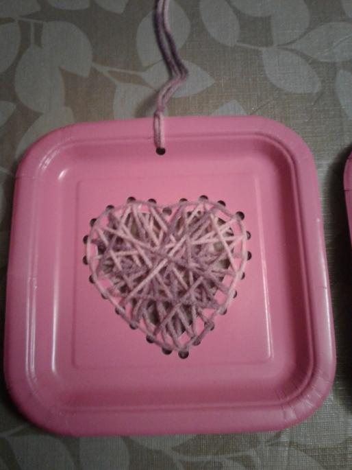 Woven yarn heart