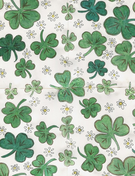 shamrocks and daisies