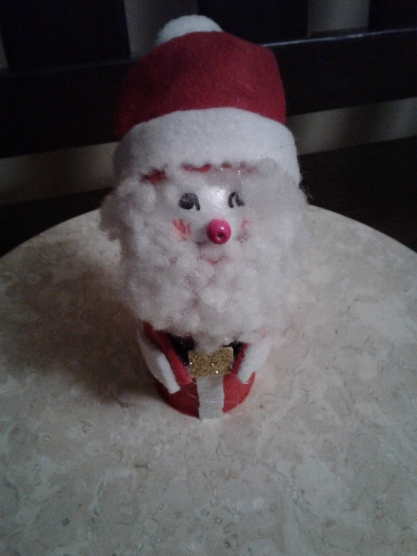 Santa from a paper role