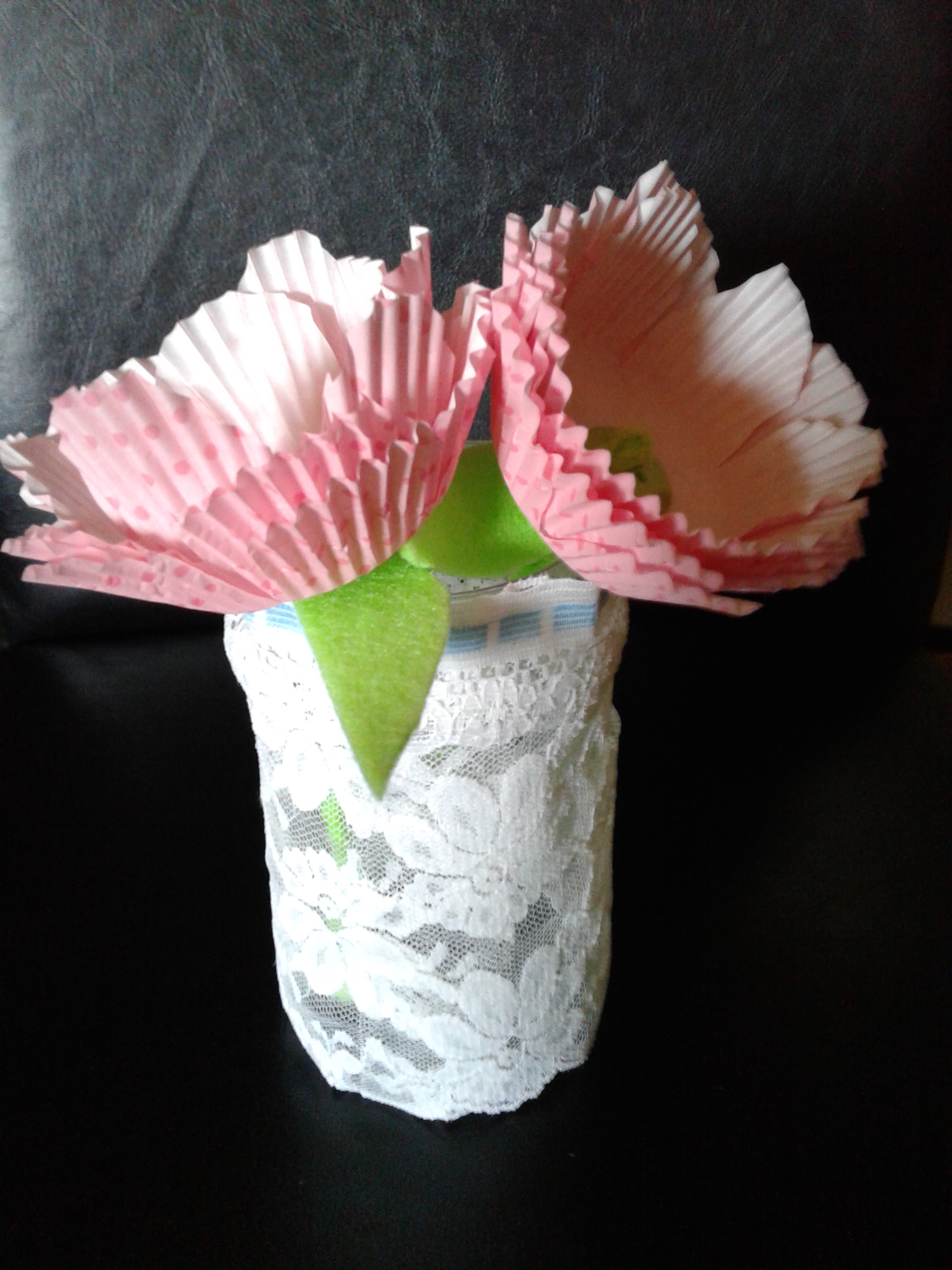 Cupcake wrapper flowers for Mothers Day